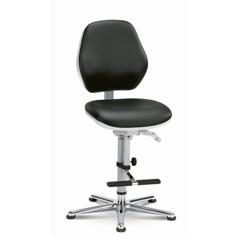 Basic Laboratory glides with footrest, seat height of 620-870 mm, upholstery Artificial leather, Ref: 9141