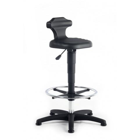 Flex sitting height of 510-780 mm, integral foam plastic base on glides with footstool, Ref: 9419