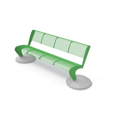 ALBATROS bench with backrest with concrete supports - 710x2350 H:760 mm