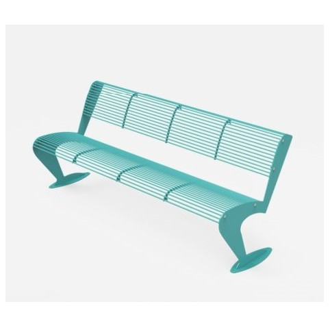 ALBATROS bench with backrest - 710x1930 H:760 mm
