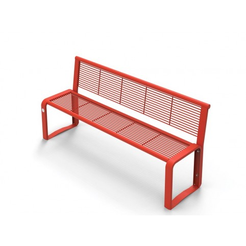 ETHOS bench with backrest in powder coated steel 565x1620 H:750 mm