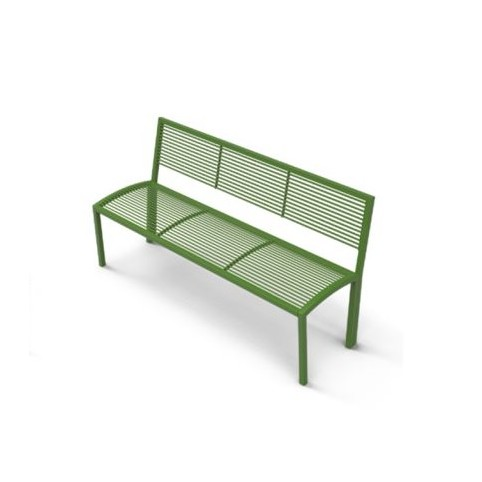 CAMILLA bench with backrest - 570x1560 H:780 mm