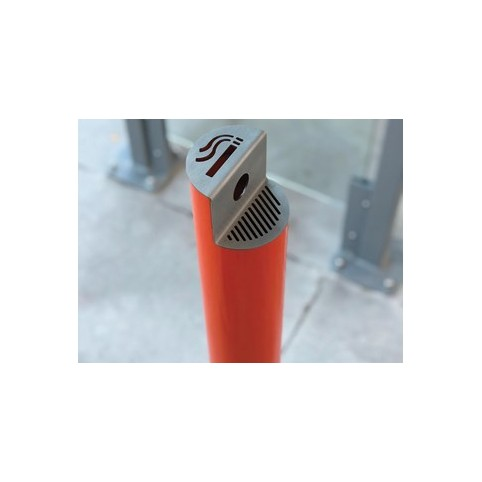SPLIT cigarette extinguisher in powder coated steel with base plate
