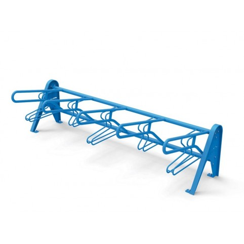 MULTIPLO bike rack in powder coated steel - 4-place module composition L:2510 H:700 mm