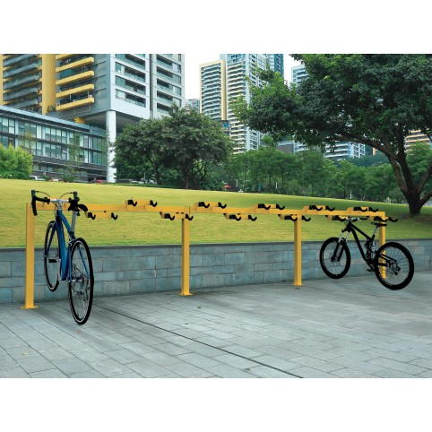 STRICH two-sided bike rack in powder coated steel - 4+4 places