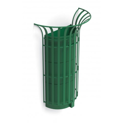 COROLLA litter bin wall fixing in powder coated steel with inner liner - 45 lt 600x315 H:900 mm