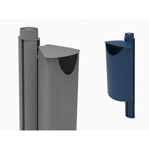 FIORE litter bin in powder coated steel with ashtray