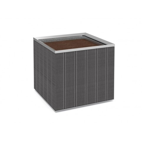 BATUR aquare steel planter and WPC with galvanized inner liner