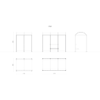 ONE shelter - Glass side wall 1400x2210 mm