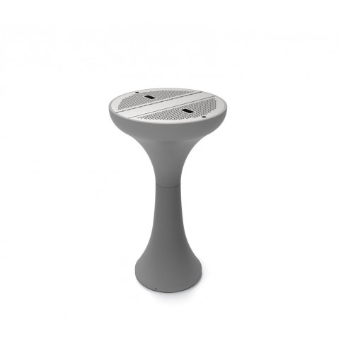 KLEPSY ashtray in powder coated steel with stainless steel D523 grid H:906 mm