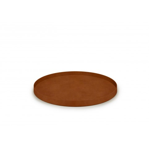 Tray Round Leather