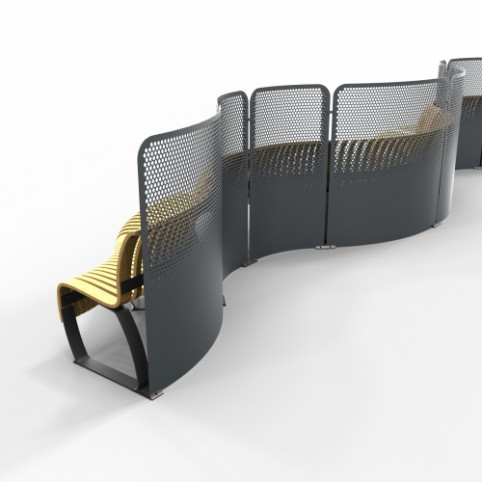 Radius Divider - Custom curvature / length / height, Privacy Screens / Room Dividers