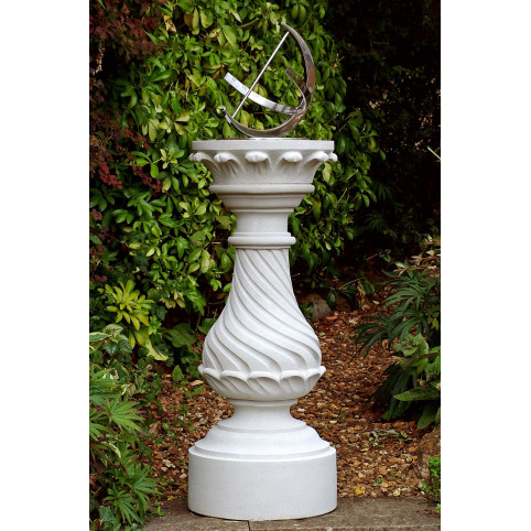 GEORGIAN SUNDIAL PLINTH (WITH UNRECESSED TOP FOR X712 CRESCENT SUNDIAL OR OWN DIAL)