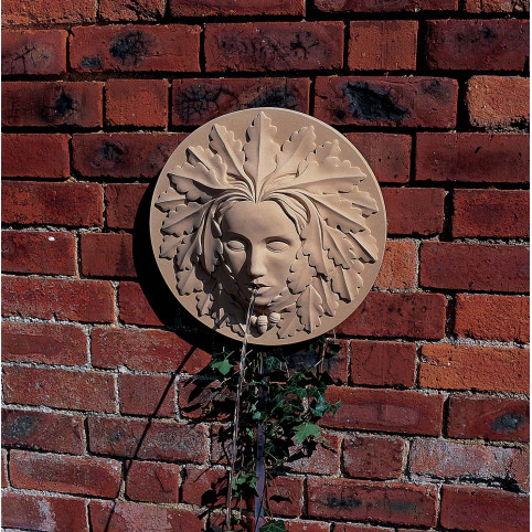GREEN WOMAN WALL FOUNTAIN STONE ONLY (RECOMMENDED PUMP: X190)