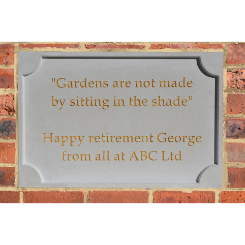 PERSONALISED STONE PLAQUE BUILT IN