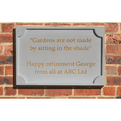 PERSONALISED STONE PLAQUE FACE FIXED