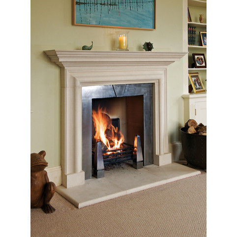 VANBRUGH FIREPLACE (WITHOUT MID-MANTEL) NO SLIP REBATES INCLUDING HEARTH